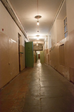 Corridor cells prisons within the palace of the former KGB