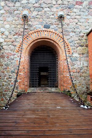 drawbridge: drawbridge and gate entrance to the castle Editorial