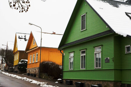 characteristics: Housing characteristics of Lithuania and in particular of Trakai. Stock Photo