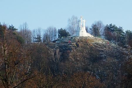 vilnius: Hill of three crosses in Vilnius Stock Photo