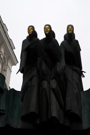 repertoire: Three Muses op de bovenkant van het Theater van Vilnius