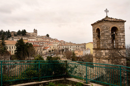 hither: Tipical italian village: Saint Valentine in hither Abruzzo Stock Photo
