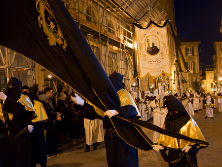 procession: The old Good Friday procession in Chieti Editorial