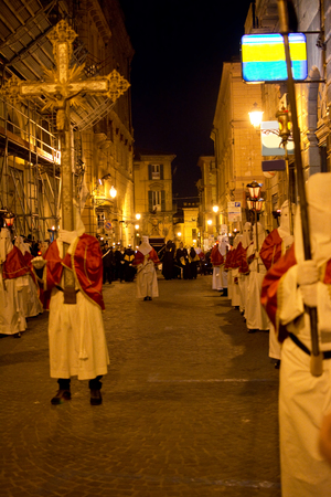 procession: The old Good Friday procession in Chieti Stock Photo