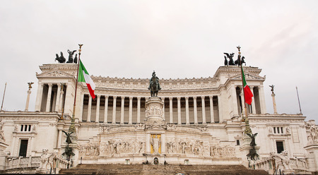 altar of fatherland: Vittoriano or altar of the fatherland in Venice Square in Rome