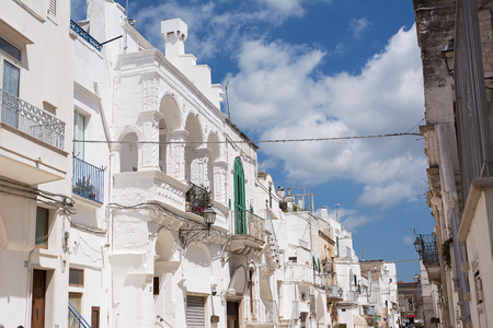 Alley of Cisternino, typical village in Apulia
