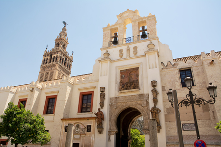 pardon: door of the pardon and cathedral of siviglia Stock Photo