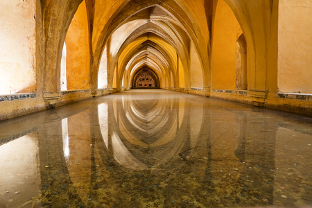 padilla: Maria Padilla baths in alcazar of Sevilla (Spain)