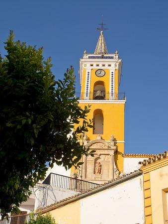 pueblo: Church of Villamartin, pueblo blancoin Spain
