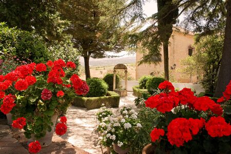 ronda: Garden of Rey Moorish in Ronda (Spain)