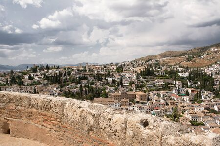 castle district: Albazin district viewed from fort Alhambra Stock Photo