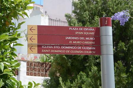 turistic: Turistic sign in Benalmadena (Spain) Stock Photo