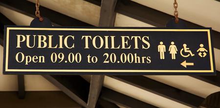 toilette: Signboard of toilette in Gibraltar (UK)