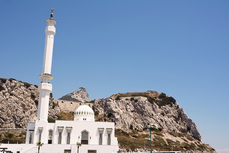europa: Mosque of Europa Point in Gibraltar UK Stock Photo