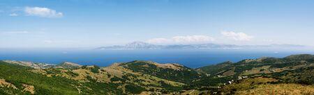tarifa: Strait of gibraltar viewed from Tarifa