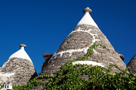 typical: Trulli: typical habitation of apulia