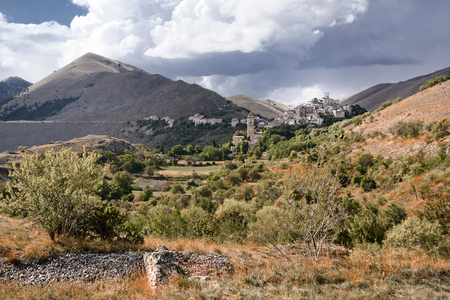 santo: Santo Stefano di Sessanio is a small village in Abruzzo(Italy) Stock Photo