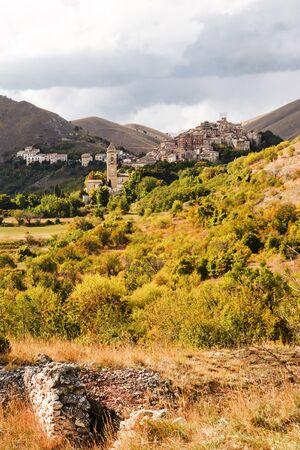 Santo Stefano di Sessanio is a small village in Abruzzo(Italy) Stock Photo