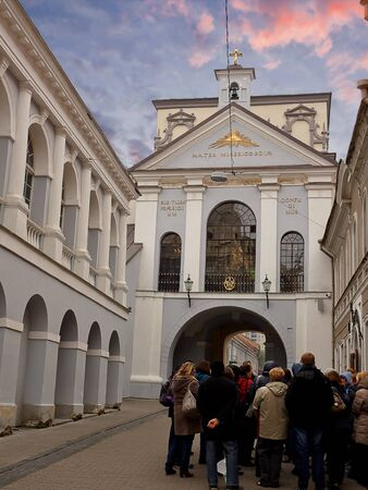 vilnius: Gate of sawn in Vilnius (Lithuania)