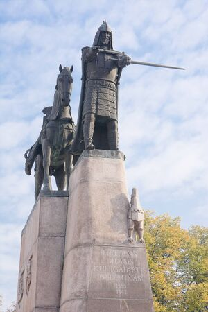duke: Monument of Duke of Lithuania in Vilnius