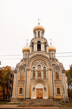 constantin: Romanovs church in Vilnius (orthodox church of St michael, and St constantin Stock Photo