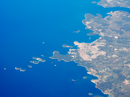lapels: Aerials view of Croatia and adriatic sea