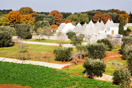 typical: Trulli, typical house in Apulia Stock Photo