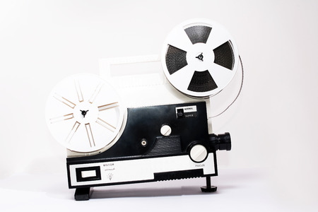 millimetre: Old super 8 projector Stock Photo