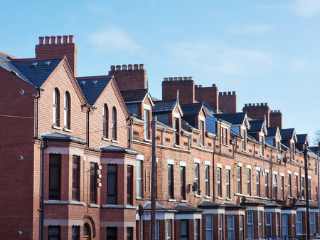typically british: Roof and chimneys in Belfast