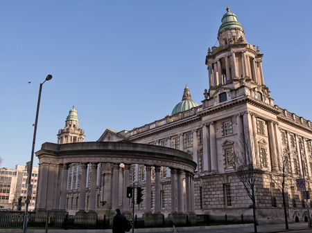 city hall: Side of Belfast City Hall Stock Photo