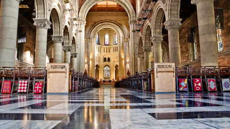 prying: Internal of cathedral Saint Anne in Belfast Editorial