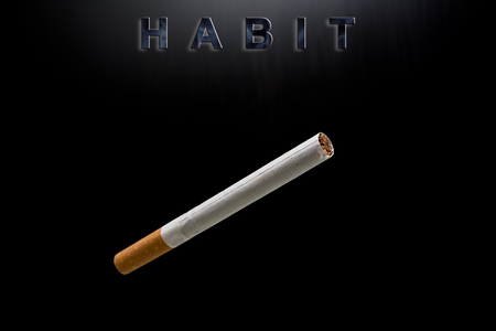 cigarette and text habit