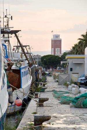 fishingboat: Port of Pescara (Italy) Stock Photo