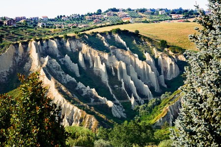 Badlands in Chieti province (Italy)