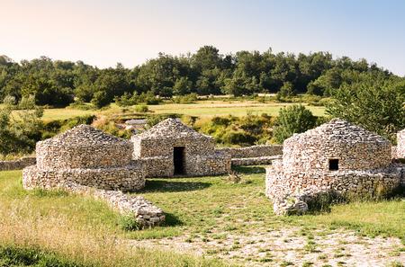 paleolithic: reconstruction village Paleolithic in Abruzzo (Italy)
