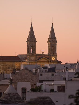 twin Tower of church Alberobello