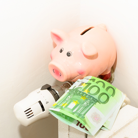 save heating costs: Concept Piggy, the valve on the radiator for saving energy and money
