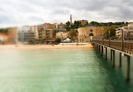 Pier and palace of siren in Francavilla al mare