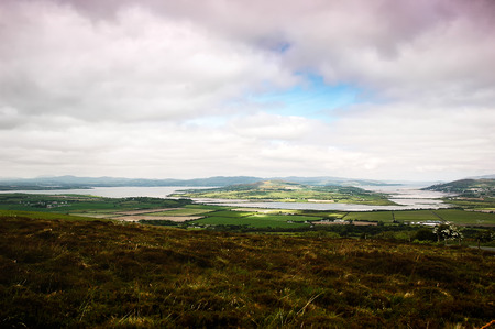 lough: panoramic views over to Drongawn Lough in Donegal (Ireland)