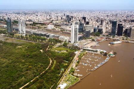 mujer: The Puerto Madero neighborhood of Buenos Aires view from aerial (Argentina)