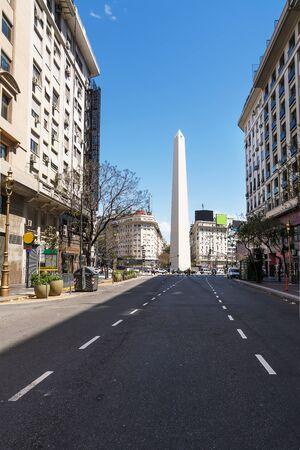 pena: Obelisk from Avenida Roque Saenz Pena in Buenos Aires