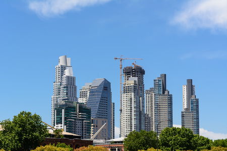 mujer: Skyscrapers in the Puerto Madero district in Buenos Aires (Argentina)