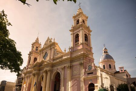 Cathedral  in Salta at sunset (Argentina)