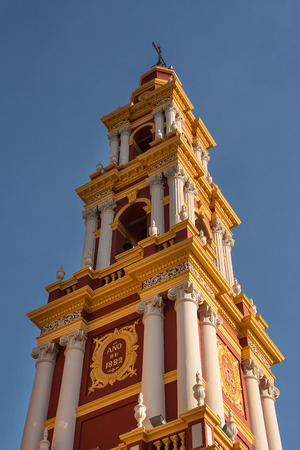 of assisi: Belfry of Church Saint Francis in Salta (Argentina) Stock Photo
