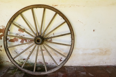 Whell of old wagon
