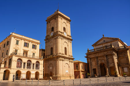 Town hall and cathedral of the city of Lanciano in Abruzzo (Italy) Stock Photo