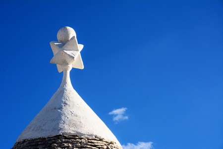 Tip of the roof of a typical Apulian trullo