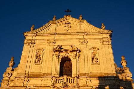 Detail of the facade of the Basilica of San Martino in Martina Franca (Italy)