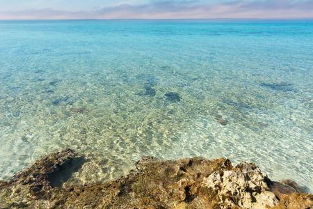 Caribbean Rocky coast and sea in Cuba Stock Photo