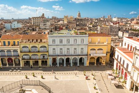 Havana; Cuba - December 3; 2017: Old Havana square seen from above